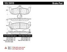 Ceramic Disc Brake Pad Set-C-TEK Ceramic Brake Pads Rear Centric 103.10410