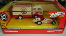 Hot Wheels 100% 40th Anniversary White 3000 Truck And Agajanian Special w/ Box