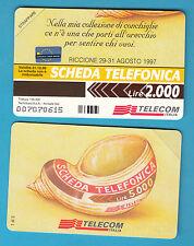 SCHEDA TELECOM NUOVE SERIE CONCHIGLIE  RICCIONE 1997 GOLDEN 644  SC. 31.12.99