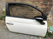 Fiat 500 O/s Drivers Side Door Complete White