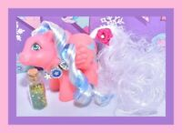 ❤️My Little Pony MLP G1 Vtg Rainbow BABY Brightbow Bright Bow Reroot OOAK❤️
