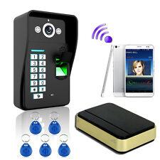 Wireless WiFi Fingerprint Video IR Camera Door Phone Visual Intercom Door Bell
