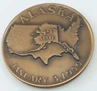 1959 Alaskan State Bronze Medallic Art Company Medal w/ Paperwork
