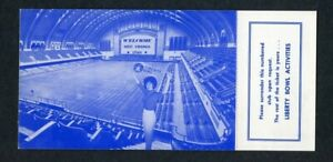 1964 Liberty Bowl Ticket Postcard West Virginia Utah First Indoor Bowl Game RARE