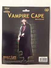 "ADULT VAMPIRE CAPE WITH COLLAR BLACK 54""/137cm APPROX"