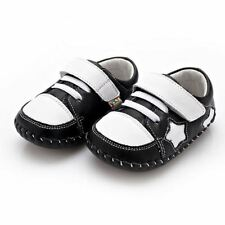 Baby Boys' Leather Shoes with Hook & Loop Fasteners
