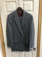 RECENT Hickey Freeman Zareh Grey 3 Pc Wool Suit Custom Made in USA Size 42