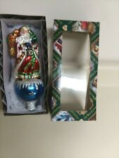 Father Christmas/Santa Claus Old World Christmas Glass Blown Tree Topper