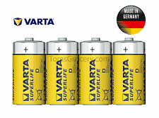 4 x VARTA Superlife Size D R20 R20P 2020 German Batteries 1.5V EXP:2020