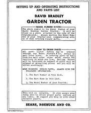 David Bradley Garden Tractor Manual  917.5751