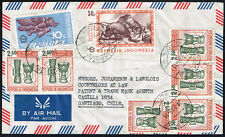 1310 INDONESIA TO CHILE AIR MAIL COVER 1969 DJAKARTA - SANTIAGO