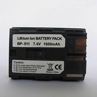 Battery for Canon BP-511a BP-511 BP-512 EOS 10D 20D 30D 40D 50D 5D D30 D60 300D