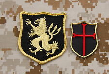 NSWDG Navy SEAL Team 6 Lion Gold Squadron & Mini Crusader DEVGRU Patch Set ST6