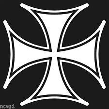 "8"" Maltese Iron Cross Decal Sticker Helmet chopper"