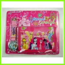 NEW My Little Pony 3-Fold Coins Money Bag Purse Wallet & Wristwatch watch SET