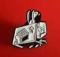 Table Flip Meme Pin Enamel Metal Brooch Lapel Badge Cosplay Gift Black and White