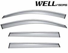 For 11-14 Porsche Cayenne WellVisors Side Window Visors W/ Chrome Trim