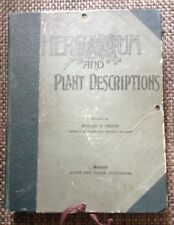HERBARIUM AND PLANT DESCRIPTIONS EDWARD T.NELSON 1895