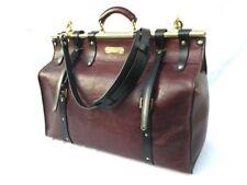 Distressed Leather Men's Briefcase Laptop travel doctor bag Shoulder Bag Satchel