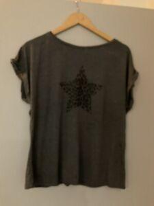 Mint Velvet Grey T Shirt Size L (12-14)
