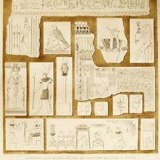 DIVINITA' EGIZIZIE Incisione Originale 1809-1829 Description Egypte Divinities