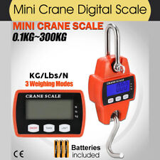 300kg 0.1kg Electronic Portable Mini Crane Scale Weight Digital LCD Hanging Hook