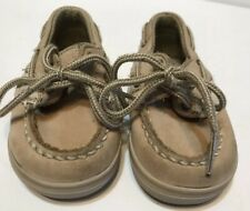 Sperry Top Sider Toddler Size 3 Child Tan Loafer Boat Shoe