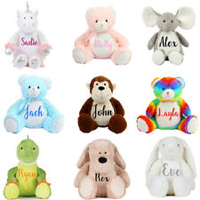 Personalised Large Zippie Teddy Bear Birthday Christening Wedding Baby Gift T1