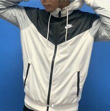 Rare Nike Windrunner Jacket Windbreaker Black White Gray Nylon Glanz Large