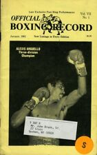 January 1982  BOXING RECORD Magazine ALEXIS ARGUELLO