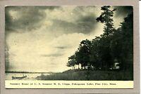 Postcard MN Pine City Pokegema Lake Canoe Home of Senator Clapp c1913  1288A