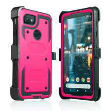 Google Pixel 2 Shock Protection Built in Screen With Belt Clip Kickstand Case