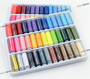 39pcs Assorted Mix Colors Sewing Quilting Thread Polyester Metallic All Purpose