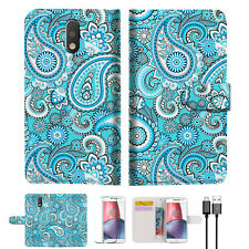 Seamless Pattern Wallet TPU Case Cover for Motorola Moto Z A022