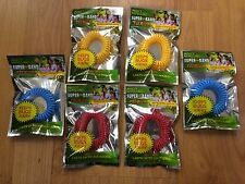 Insect 6 Mosquito Bug Repelling Wrist Band Superband Premium 2 Of Each Color