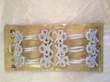 Lot NEW Pkg (12) Decorative Metal Hooks by Premier White Hanger Coat Towel