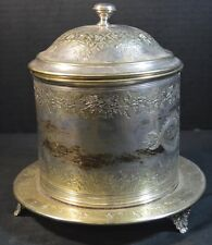 Antique Silverplate Biscuit Barrel