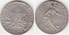 Monnaie Française 2 francs semeuse argent 1912