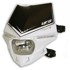 Mascherina Faro Anteriore Moto Ufo Stealth LED Bianco White Headlight Enduro