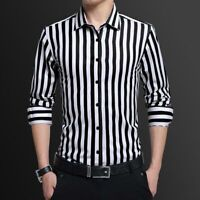 Luxury Dress Shirts Stylish Men's Business Casual Fashion Slim Fit Tops Shirt
