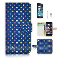 ( For iPhone 7 Plus ) Wallet Case Cover P1600 Star Pattern