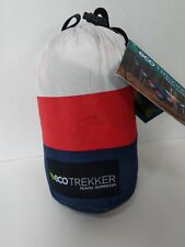 NWT Eco Trekker Travel Hammock Red, White, and Blue Stripe Carabiners Brand New
