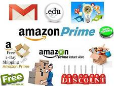 EDU Email Amazon Prime 6 Months Free Shipping Unlimited Google Drive Etc