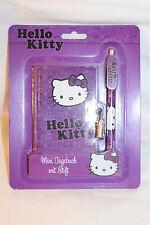 Hello Kitty Mini Tagebuch mit Stift in Lila