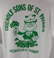 Vtg Stedman Casual Shirt XL Friendly Sons of St Patrick Hawaii 90s USA Made