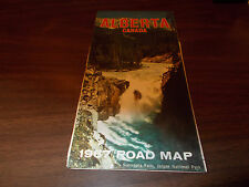 1967 Alberta Province-issued Vintage Road Map