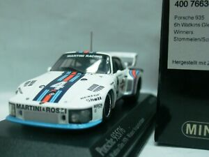 WOW EXTREMELY RARE Porsche 935 1976 #4 Martini Winner Glen 1:43 Minichamps-Spark