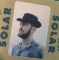 Vintage 35mm Slide Hipster Guy Beard Hat Snap