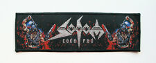 SODOM - Code Red [black] - Woven Patch / Kreator Destruction Toxic Holocaust