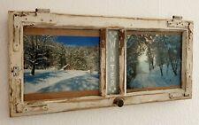 Alte Fenster shabby chic Antik Bilderrahmen Vintage Sprossenfenster upcycling